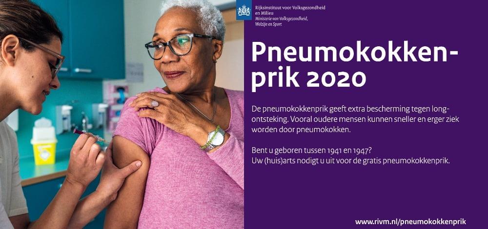 pneumokokken vaccinatie 2020